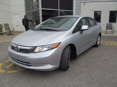 Honda Civic LX+Garantie 10 ans ou 200.000km 2012