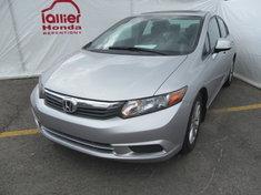 Honda Civic EX BERLINE + GARANTIE 10 ANS/200.000KM 2012