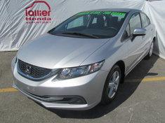 Honda Civic LX BERLINE + GARANTIE 10 ANS/200.000KM 2014