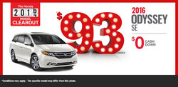 Lease the 2016 Honda Odyssey SE from $93/Week!