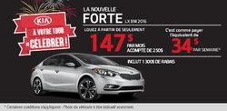 Louez la nouvelle Kia Forte 2016 à 147$ par mois