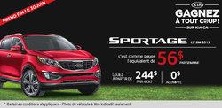Louez le tout nouveau Kia Sportage LX BM TA 2015 à compter de 56$ par semaine