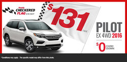 Lease the 2016 Honda Pilot for $131/Week!