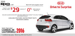 2016 Kia Rio5 - Get it For as Low as $29 Monthly