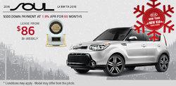 2016 Kia Soul - Lease it for as low as $86 bi-weekly