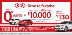 Kia Drive to Surprise Sales Event