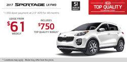 2017 Kia Sportage -- Lease it Today!