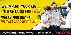 Free Import to Ontario