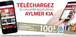 Téléchargez la nouvelle application d'Aylmer Kia